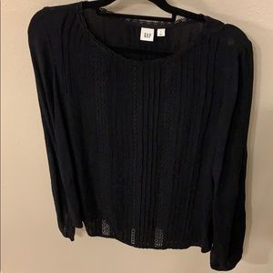 Black long sleeve top by Gap size Small